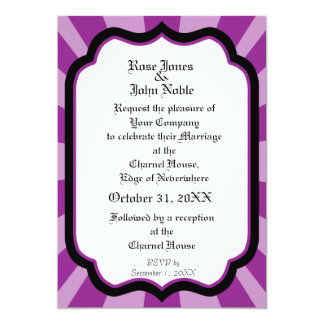 Pervade Ivory VII (Purple) Wedding Invitation