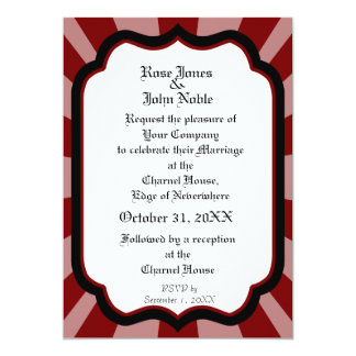 Pervade Ivory VII (Red) Wedding Invitation