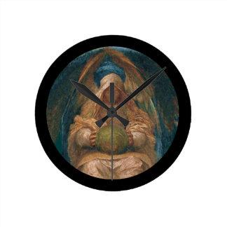 Pervading Spirit Angel Round Clock