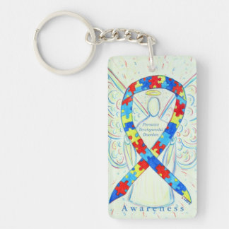 Pervasive Developmental Disorders Ribbon Keychain