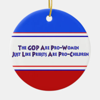 PERVERT CLUB Double-Sided CERAMIC ROUND CHRISTMAS ORNAMENT