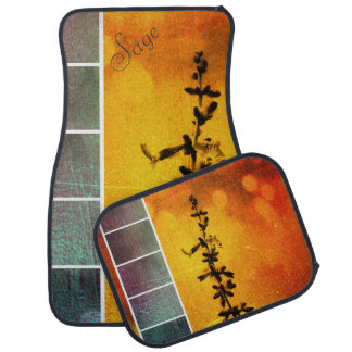 Pervoskia Collage Aflame Car Mats *Personalize*