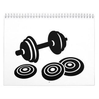 Pesa de gimnasia del Barbell Calendarios