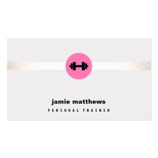 Pesa de gimnasia personal del rosa del instructor tarjetas de visita