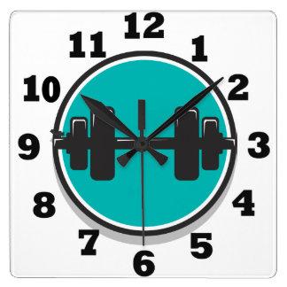 Pesa de gimnasia reloj cuadrado