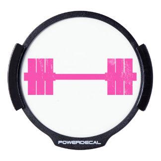 Pesa de gimnasia rosada/Barbell Decal LED Para Ventana