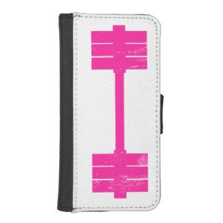 Pesa de gimnasia rosada/Barbell Cartera Para Teléfono