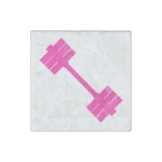 Pesa de gimnasia rosada/Barbell Imán De Piedra