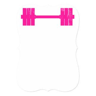 """Pesa de gimnasia rosada/Barbell Invitación 5"""" X 7"""""""