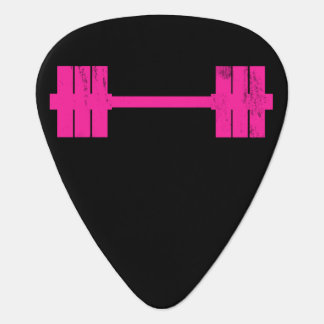 Pesa de gimnasia rosada/Barbell Plumilla De Guitarra