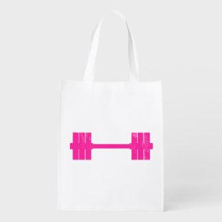 Pesa de gimnasia rosada/Barbell Bolsas Para La Compra