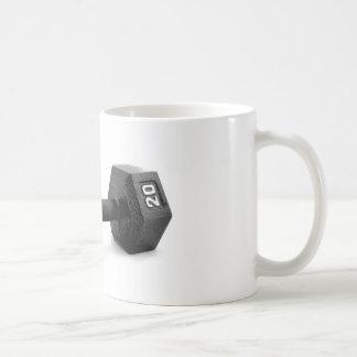 Pesa de gimnasia taza de café