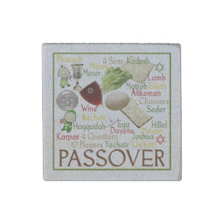 Pesach Collage Stone Magnet
