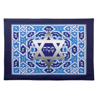 """Pesach"" Hebrew Text Passover Seder Placemat Cloth Place Mat"
