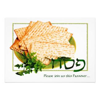 Pesach Matzah Maror Passover Seder Invitations