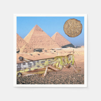 Pesach - Passover - Matzah y pirámides Servilleta Desechable