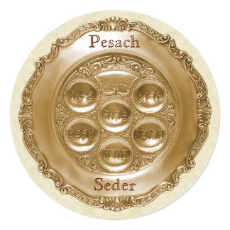 Pesach Round Seder Plate Card
