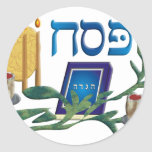 Pesach Round Stickers
