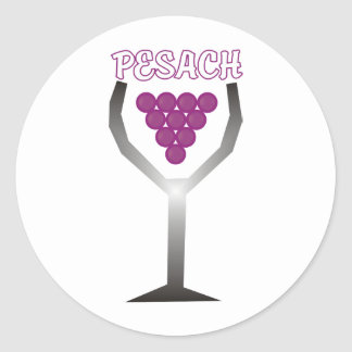 Pesach Whine Classic Round Sticker