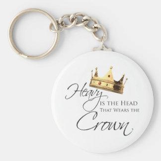Pesada es la cabeza que lleva la corona llavero redondo tipo pin
