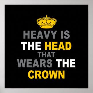 Pesada es la corona póster