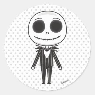 Pesadilla antes del navidad el   Jack Emoji Pegatina Redonda