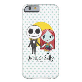 Pesadilla antes del navidad el   Jack y Sally Funda Barely There iPhone 6