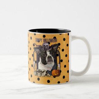 Pesadilla de Halloween - Boston y rata Terrier - J Taza