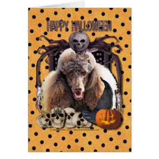 Pesadilla de Halloween - caniche - chocolate Tarjeta De Felicitación