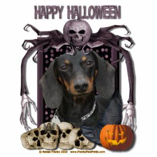 Pesadilla de Halloween - Dachshund - Winston Fotoescultura Vertical