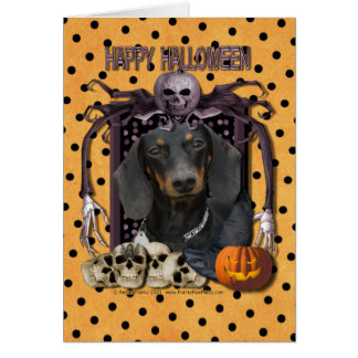 Pesadilla de Halloween - Dachshund - Winston Tarjeta De Felicitación