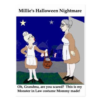 Pesadilla de Halloween de Millie Tarjeta Postal