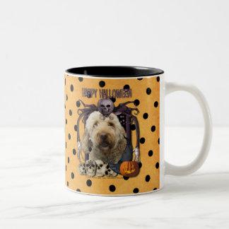 Pesadilla de Halloween - Goldendoodle Taza De Café