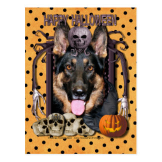 Pesadilla de Halloween - pastor alemán - Kuno Tarjeta Postal