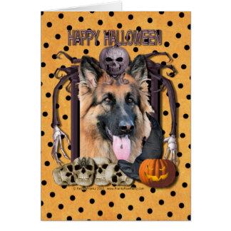 Pesadilla de Halloween - pastor alemán - ocasión Tarjeta De Felicitación