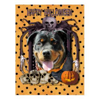 Pesadilla de Halloween - Rottweiler - SambaParTi Postales