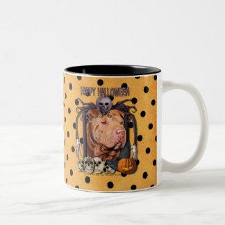 Pesadilla de Halloween - Shar Pei - afortunada Tazas De Café