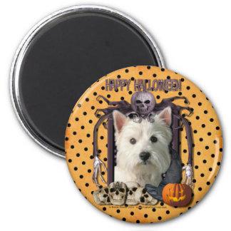 Pesadilla de Halloween - Westie Imán Redondo 5 Cm