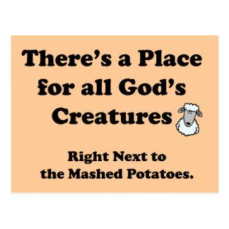 Pesadilla de los vegetarianos tarjetas postales