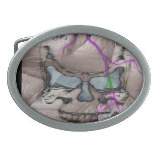 Pesadilla del cráneo hebilla de cinturón oval