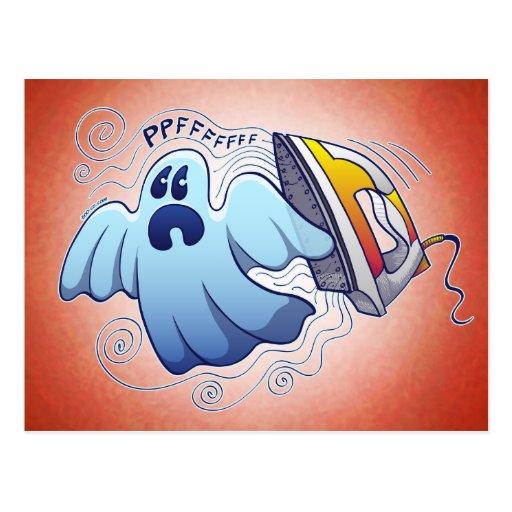 Pesadilla que plancha del fantasma postal