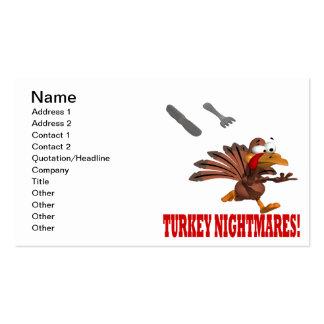 Pesadillas de Turquía Plantillas De Tarjetas De Visita