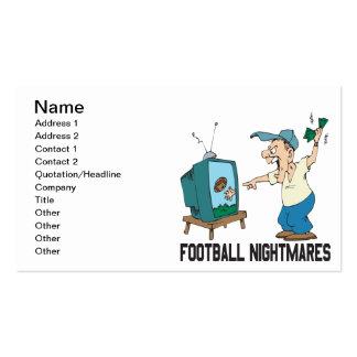 Pesadillas del fútbol tarjetas de visita