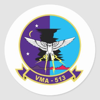 Pesadillas del vuelo VMA-513 Pegatina Redonda