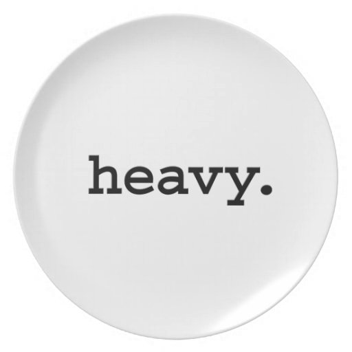 pesado plato de comida