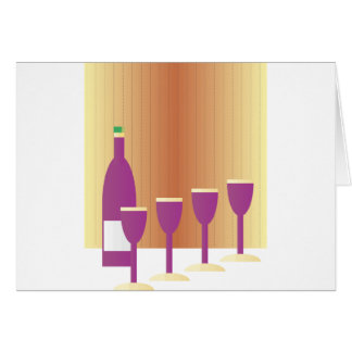 Pesah Four Cups of Wine Card