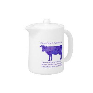 Pesares púrpuras de la vaca