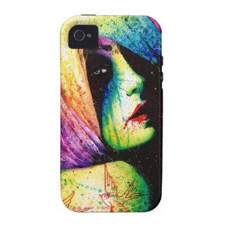 Pesares - retrato del arte pop vibe iPhone 4 fundas
