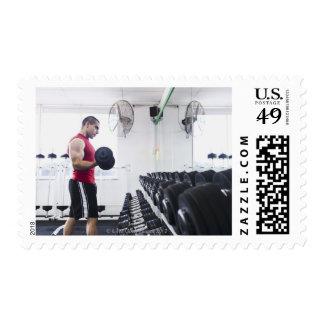 Pesas de gimnasia 2 timbre postal