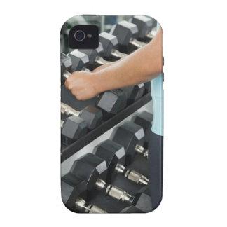 Pesas de gimnasia de elevación 2 de la mujer iPhone 4 fundas